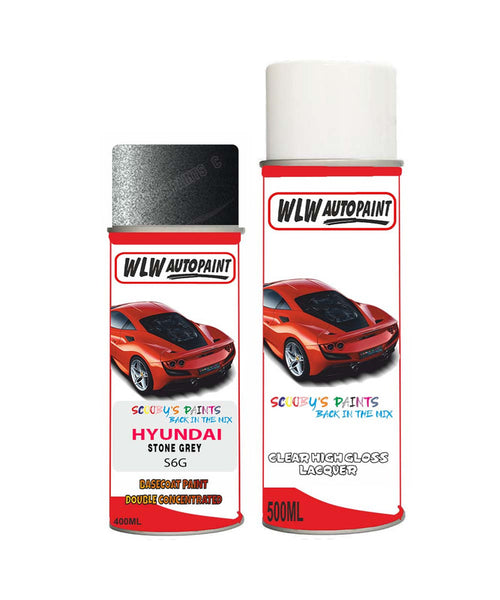 Hyundai I40 Stone Grey S6G Car Aerosol Spray Paint + Lacquer