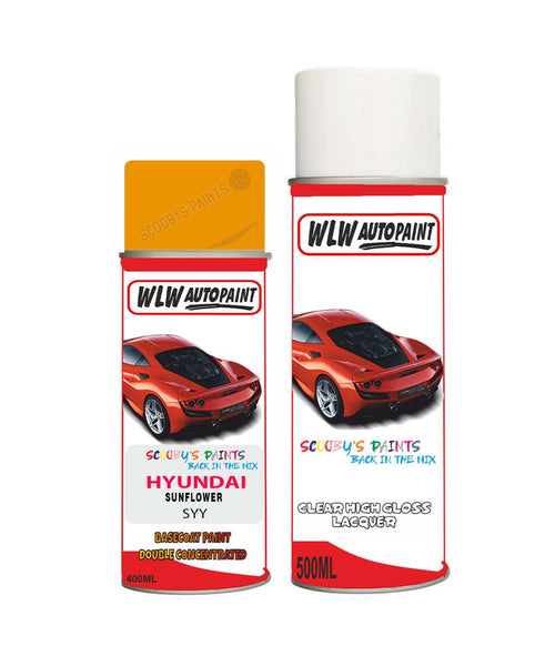 Hyundai Veloster Sunflower Syy Car Aerosol Spray Paint With Lacquer 2010-2018