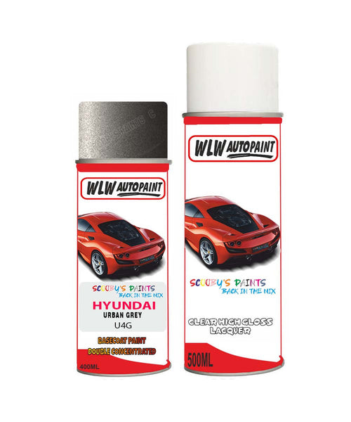 Hyundai Elantra Urban Grey U4G Car Aerosol Spray Paint + Lacquer