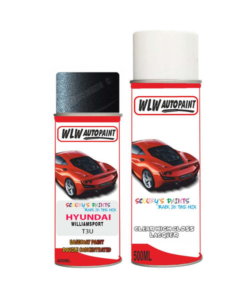 Hyundai Santa Fe Williamsport T3U Car Aerosol Spray Paint + Lacquer
