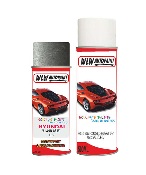 Hyundai Sonata Willow Gray Ds Car Aerosol Spray Paint With Lacquer 2009-2010
