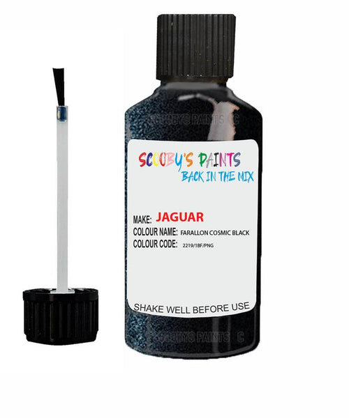 Jaguar F-Pace Farallon Cosmic Black Code 2219 Touch Up Paint