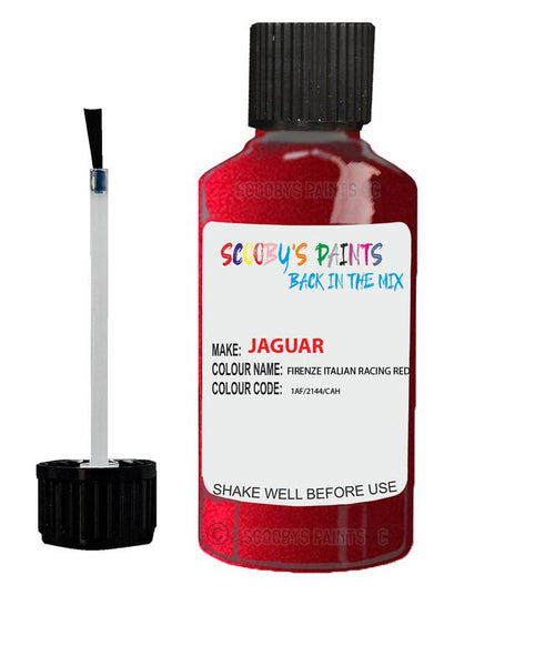 Jaguar I-Pace Firenze Italian Racing Red Code 2144 Touch Up Paint 2012-2021