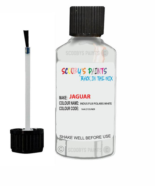 Jaguar F-Type Indus Fuji Polaris White Code 2135 Touch Up Paint 2010-2021