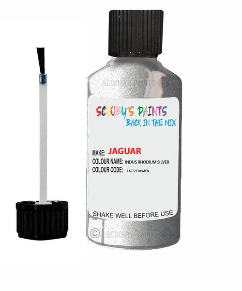 Jaguar Xe Indus Rhodium Silver Code 2130 Touch Up Paint 2012-2021