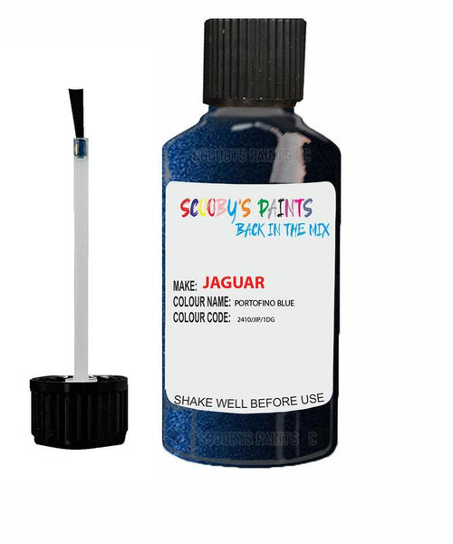 Jaguar F-Pace Portofino Blue Code 2410 Touch Up Paint 2018-2021
