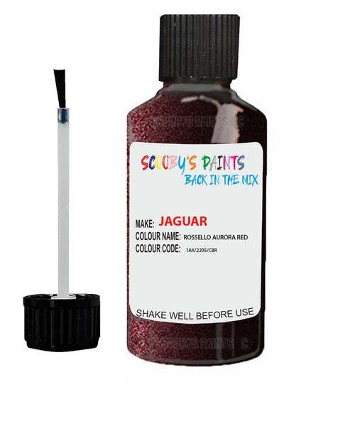Jaguar Xfr Rossello Aurora Red Code 2205 Touch Up Paint