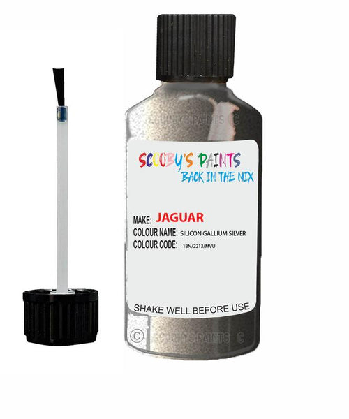 Jaguar Xe Silicon Gallium Silver Code 2213 Touch Up Paint 2016-2021