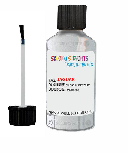 Jaguar Xe Yulong Glacier White Code 2201 Touch Up Paint
