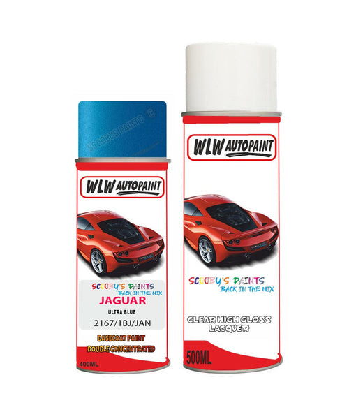 Jaguar F-Type Ultra Blue Aerosol Spray Car Paint + Clear Lacquer 2167