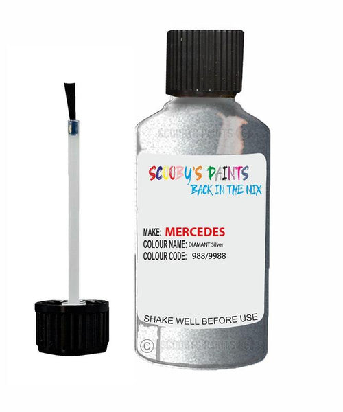 Mercedes Mlc-Class Diamant Silver Code 988/9988/988/9988 Touch Up paint