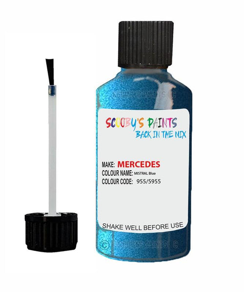 Mercedes A-Class Mistral Blue Code 955/5955/955/5955 Touch Up Paint 2006-2009