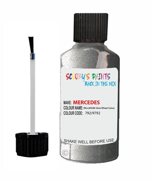 Mercedes R-Class Palladium Silver Wheel Colour Code 792/9792/792/9792 Touch Up paint