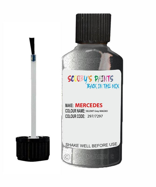 Mercedes Cls-Class Selenit Grey Magno Code 297/7297/297/7297 Touch Up paint