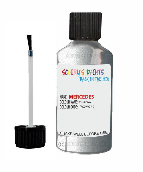 Mercedes Slk-Class Tellur Silver Code 762/9762/762/9762 Touch Up paint