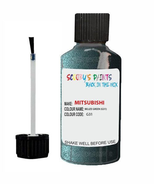 Mitsubishi Pajero Belize Green Code G31 Touch Up paint