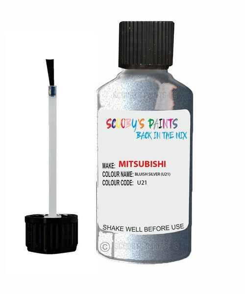 Mitsubishi Outlander Phev Bluish Silver Code U21 Touch Up paint
