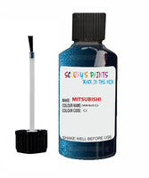 Mitsubishi Pajero Dark Blue Code Cj Touch Up paint