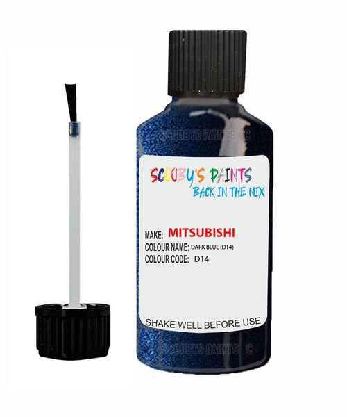 Mitsubishi Outlander Sport Dark Blue Code D14 Touch Up paint
