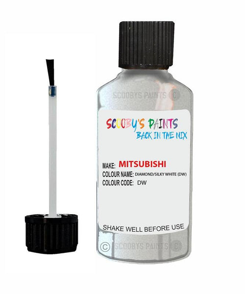 Mitsubishi Outlander Sport Diamond/Silky White Code Dw Touch Up paint