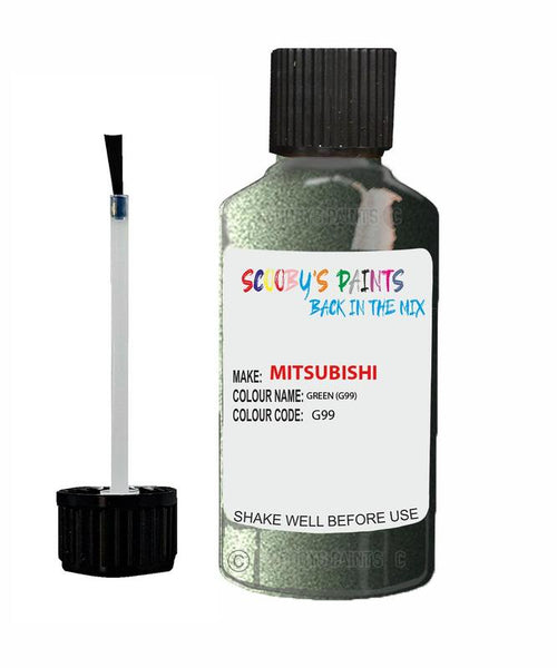 Mitsubishi Challenger Green Code G99 Touch Up paint