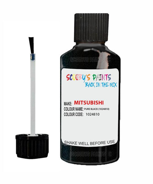 mitsubishi pajero sport pure black code 1024810 touch up paint 2013 2013 Scratch Stone Chip Repair