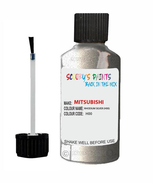 Mitsubishi Pajero Sport Rhodium Silver Code H00 Touch Up paint