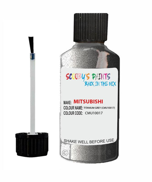 Mitsubishi Challenger Titanium Grey Code Cmu10017 Touch Up paint