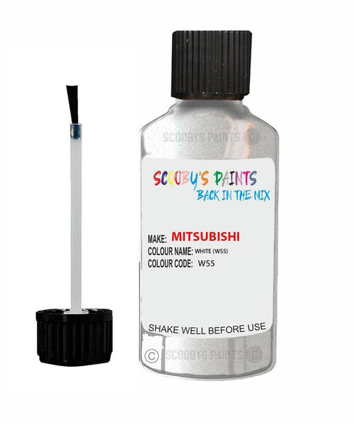 Mitsubishi Outlander Sport White Code W55 Touch Up paint