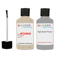 Mitsubishi Pajero Beige Code Br Touch Up Paint with anit rust primer undercoat