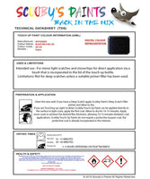 Mitsubishi Pajero Black Mica Code Ml128 Touch Up paint instructions for use how to paint car