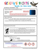 Mitsubishi Space Runner Blue Code B34 Touch Up paint instructions for use how to paint car