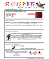 Mitsubishi Pajero Red Rock Code 4982 Touch Up paint instructions for use how to paint car