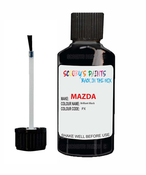 Mazda Cx5 Brilliant Black Code: Px Car Touch Up Paint