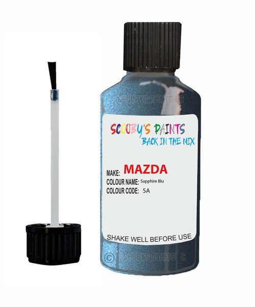 Mazda Mx6 Sapphire Blu Code: 5A Car Touch Up Paint