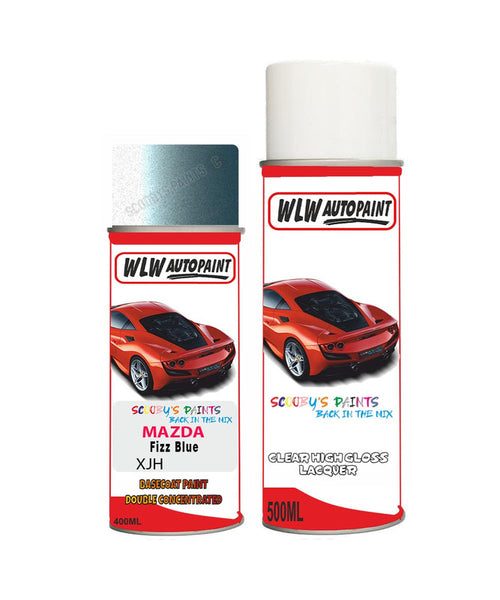 Mazda 8 Fizz Blue Aerosol Spray Car Paint + Lacquer Xjh