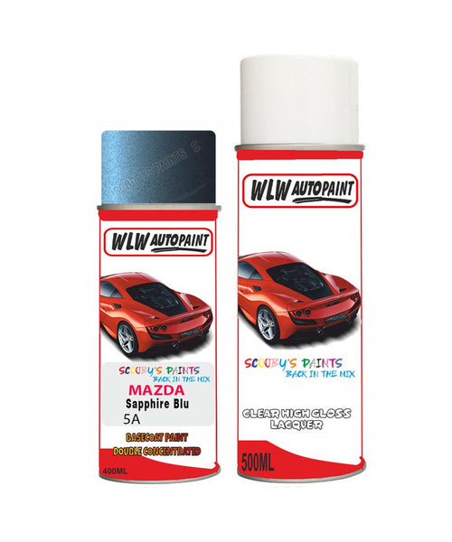 Mazda Mx6 Sapphire Blu Aerosol Spray Car Paint + Clear Lacquer 5A