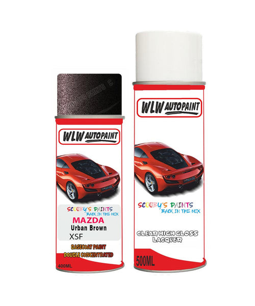 Mazda Cx9 Urban Brown Aerosol Spray Car Paint + Lacquer Xsf