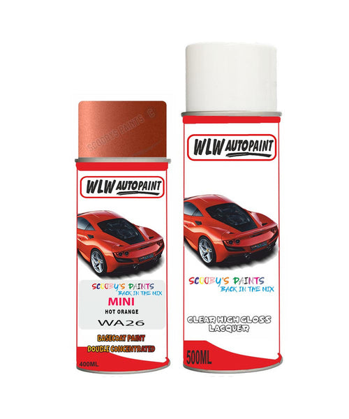 Mini Cooper Cabrio Hot Orange Aerosol Spray Car Paint + Lacquer Wa26