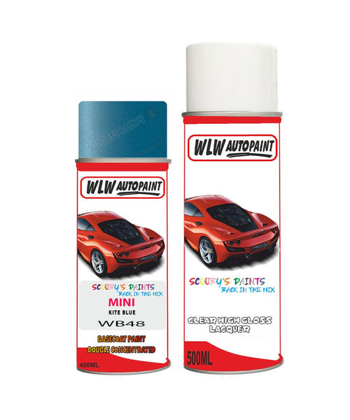 Mini One Clubman Kite Blue Aerosol Spray Car Paint + Lacquer Wb48