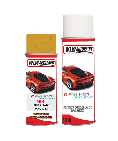 Mini One Cabrio Mellow Yellow Aerosol Spray Car Paint + Lacquer Ya58