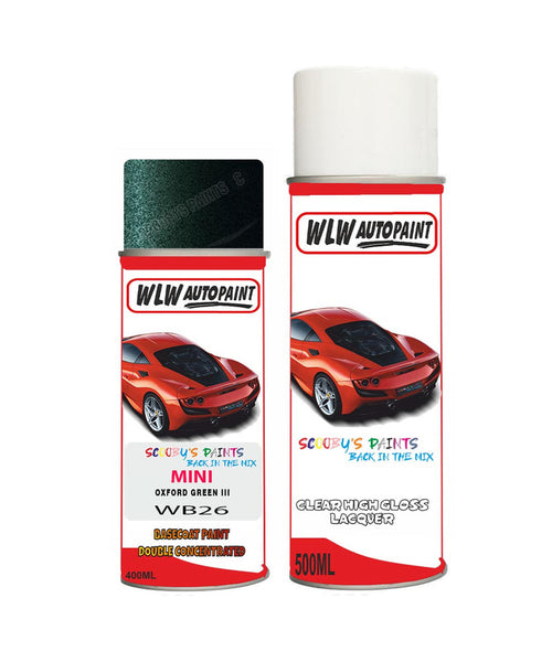 Mini Cooper S Paceman Oxford Green Iii Aerosol Spray Car Paint + Clear Lacquer Wb26