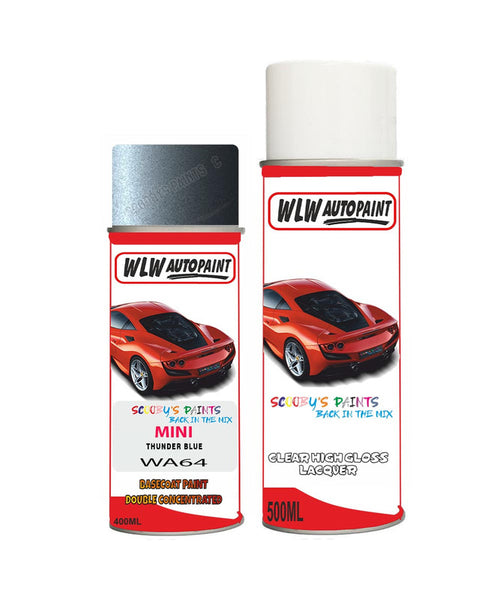 Mini Cooper S Jcw Thunder Blue Aerosol Spray Car Paint + Clear Lacquer Wa64