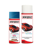 MINI ONE TRUE BLUE Aerosol Spray Car Paint + Clear Lacquer WB14