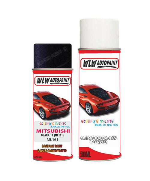Mitsubishi Lancer Black Ml161 Car Aerosol Spray Paint Rattle Can