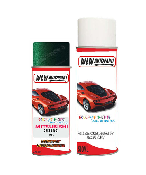 Mitsubishi 3000Gt Green (Ag) Car Aerosol Spray Paint And Lacquer 1998-2003