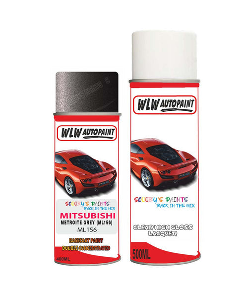 Mitsubishi Lancer Ashton Grey/Metroite Ml156 Aerosol Spray Paint Can