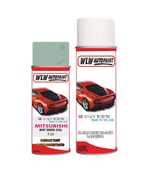 mitsubishi i miev mint green f20 car aerosol spray paint and lacquer 2009 2011Body repair basecoat dent colour