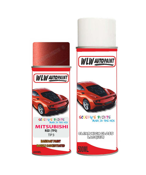 MITSUBISHI CANTER RED (TP3) Car Aerosol Spray Paint and Lacquer 2013-2013