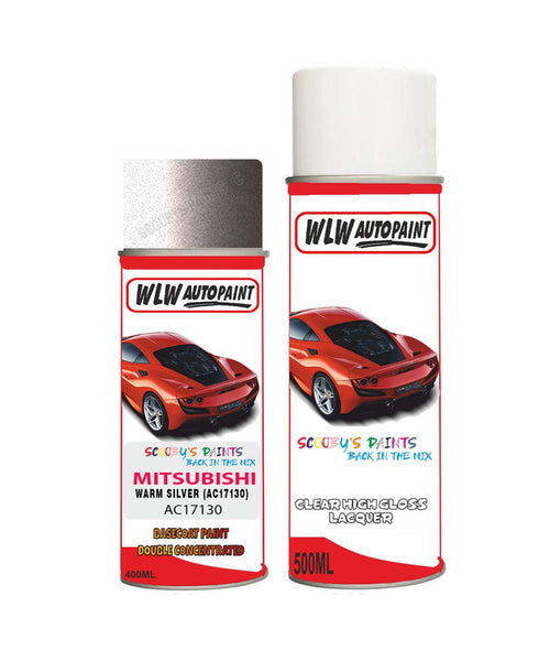 MITSUBISHI CANTER WARM SILVER (AC17130) Car Aerosol Spray Paint and Lacquer 1999-2000
